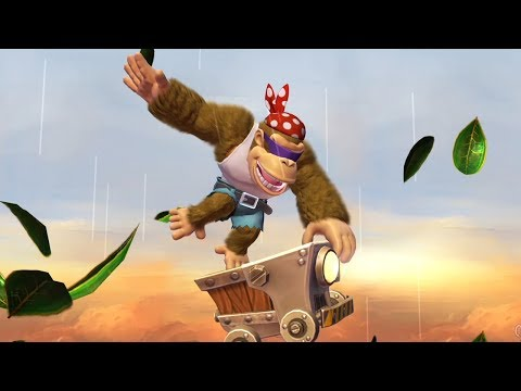 Donkey Kong Country Tropical Freeze - All Minecart Level With Funky Kong