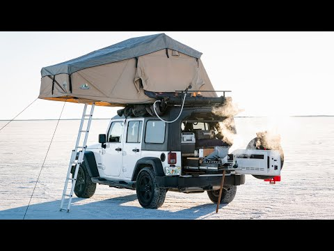 Living Out of a Jeep Wrangler  Year on the Road  JEEP OVERLAND WALK THROUGH