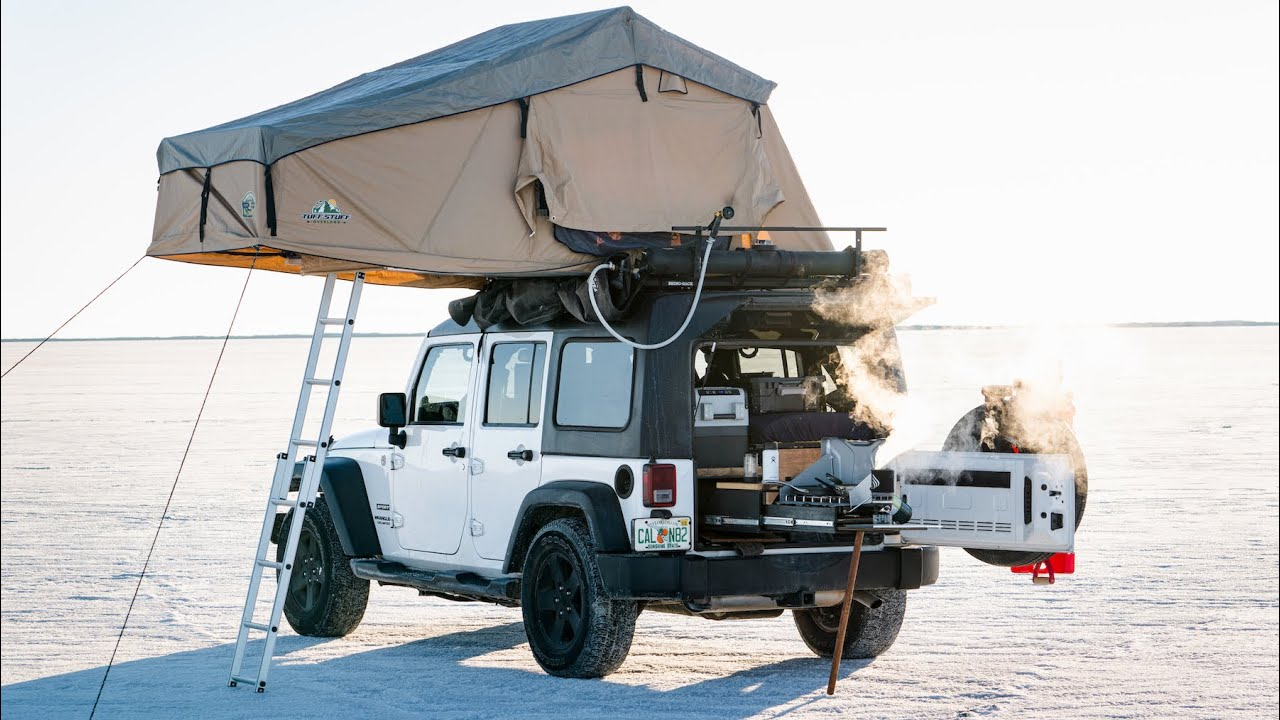 Living Out of a Jeep Wrangler – Year on the Road – JEEP OVERLAND WALK THROUGH