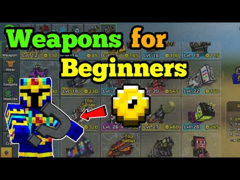 Weapons For Beginners What You Can Use At High Levels - Pixel Gun 3D