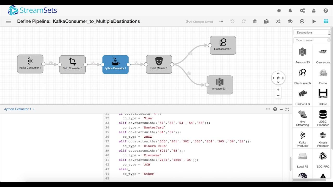 Simple Kafka Enablement using StreamSets