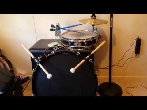 Robot Drummer Controlled By Ableton Arduino With MAX