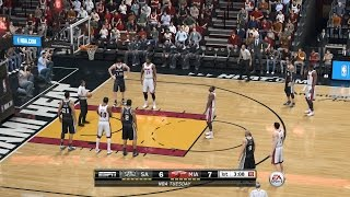 NBA 2015 - San Antonio Spurs vs Miami Heat - 2nd Qrt - NBA LIVE 15 PS4 - HD