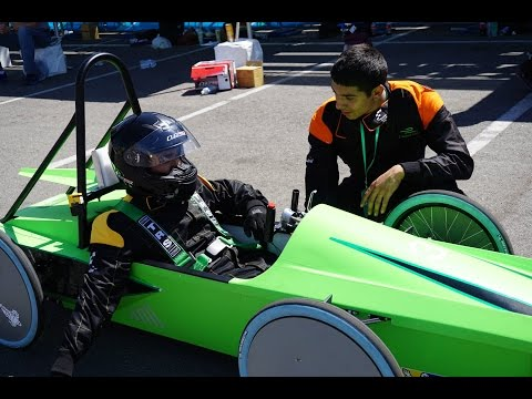 High School race, ePrix 2015.  Formula E, electric Racecar