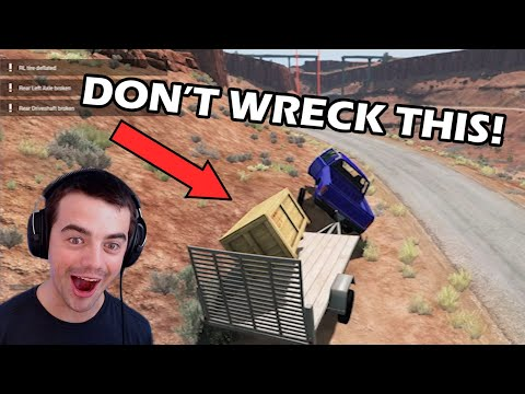 BeamNG Drive Supply Delivery! This Did Not Go Very Well |