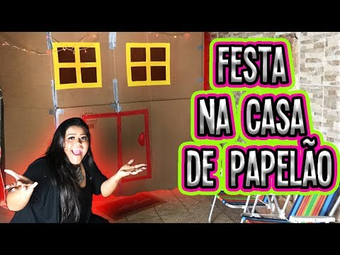 FESTA NA CASA DE PAPELÃO !!!! (BOX FORT)