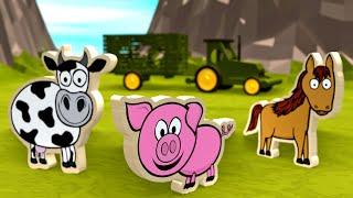 Zwierzęta na wsi dla dzieci - Dopasowywanie kształtów | CzyWieszJak