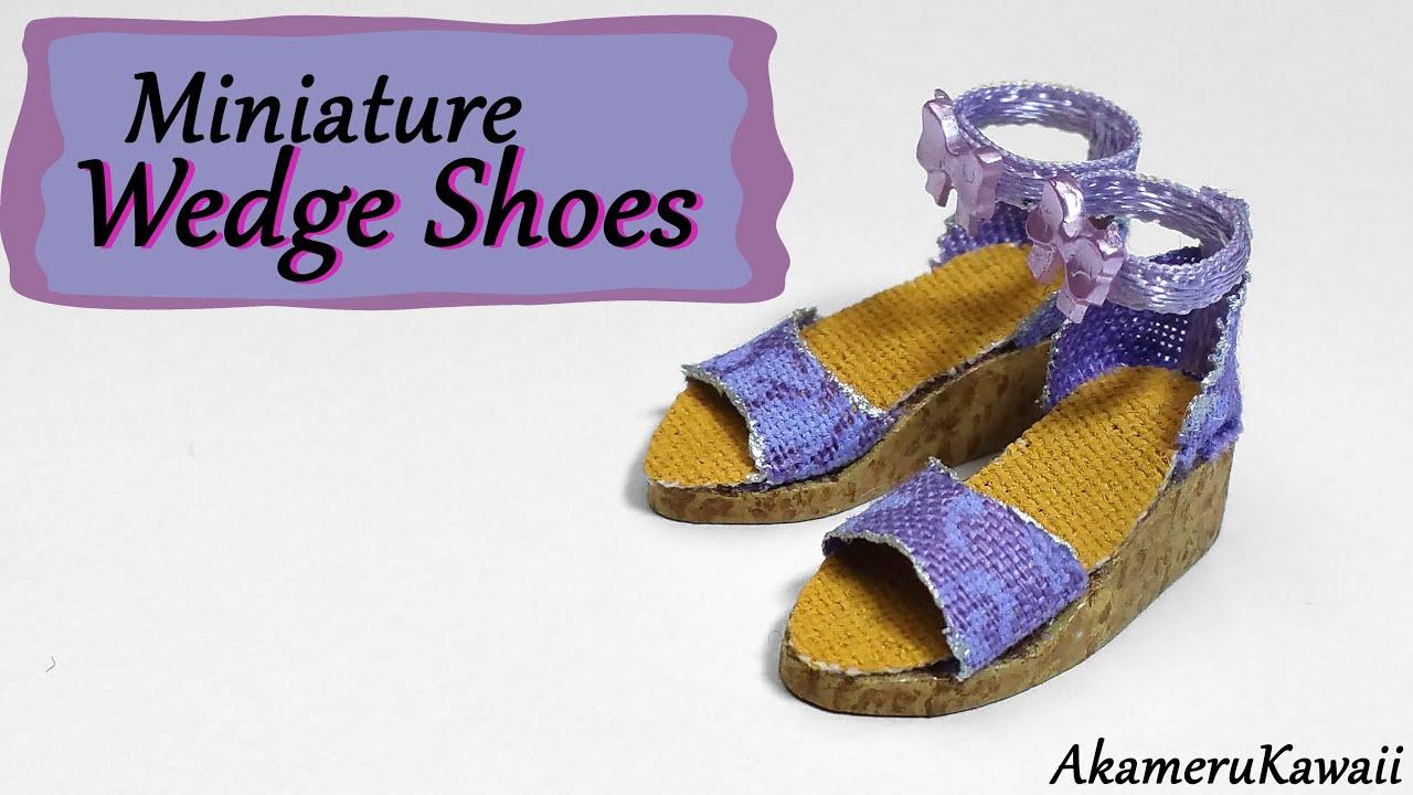 74de13ea3c5d Miniature Wedge Shoes   Sandals - Polymer Clay Tutorial - YouTube
