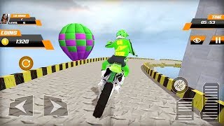 Real Green Motocross Stunt Bike Racing Games || Bike Games || 3D Bike Stunts Games | Motocross Game