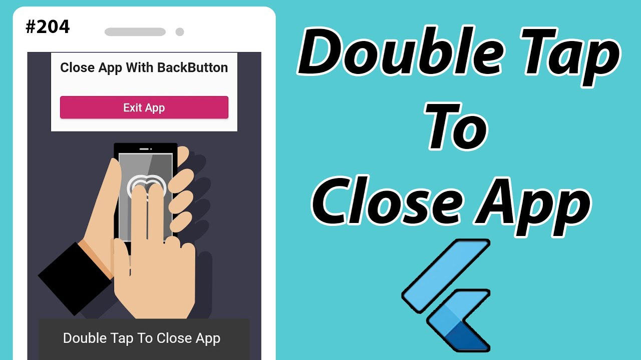 Flutter Tutorial - Double Tap To Close App