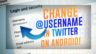 How to change username in twitter on android videos / InfiniTube