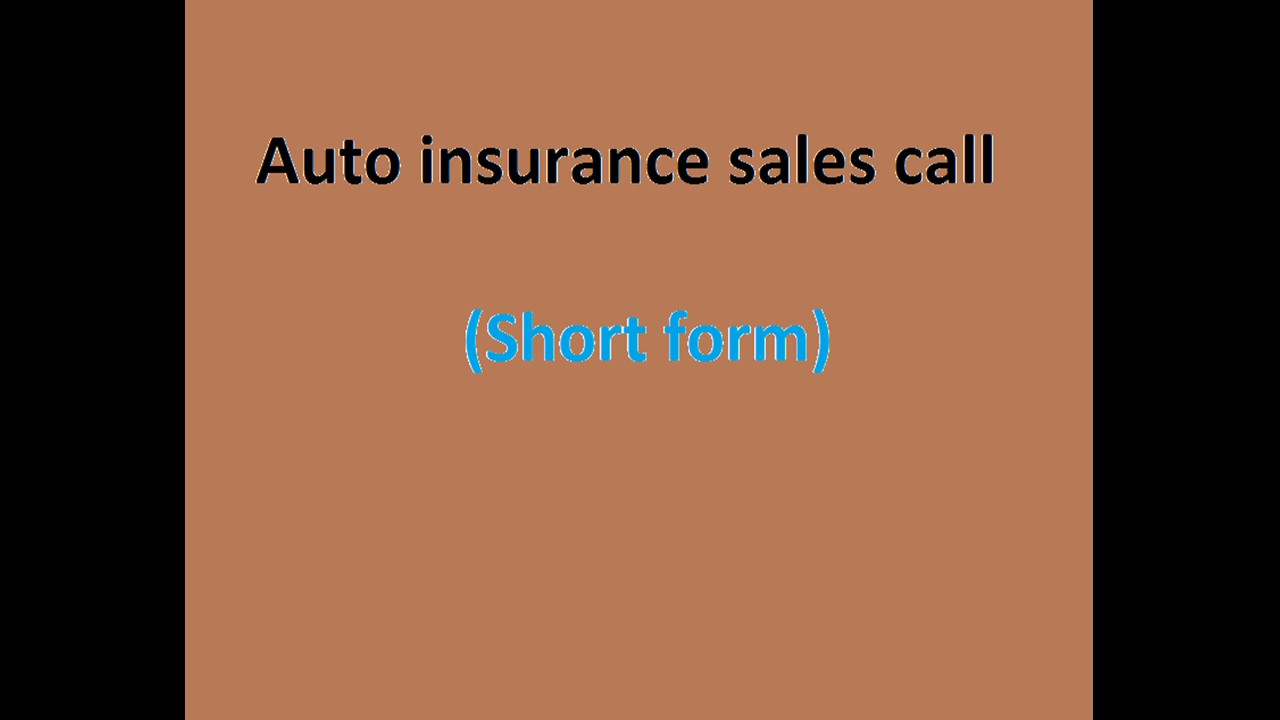 Auto insurance sales call short form youtube auto insurance sales call short form thecheapjerseys Gallery