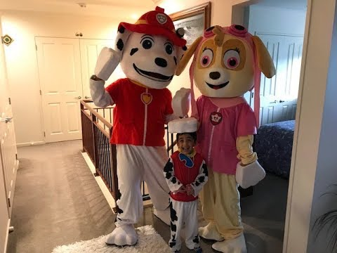 PAW PATROL BIRTHDAY PARTY IN REAL LIFE FOR CutieRayyan Superkid !!!!