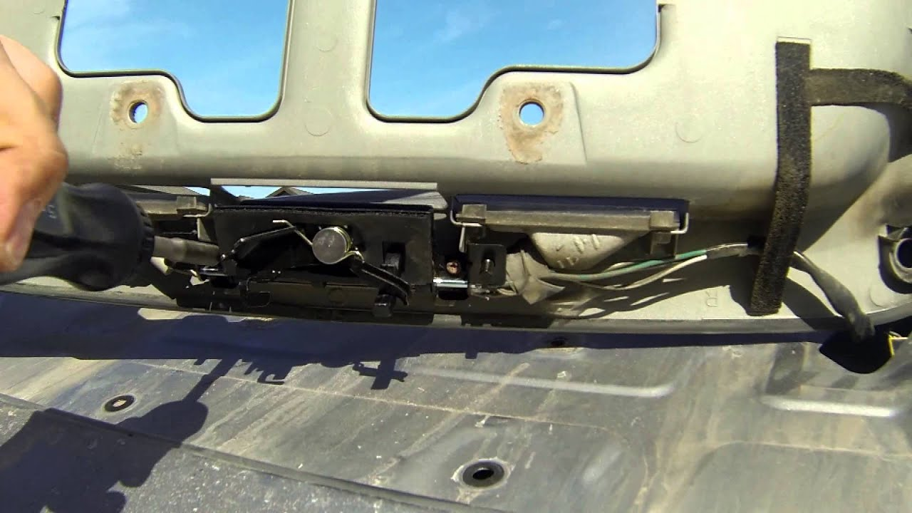 How to replace the rear door latch handle on a toyota for Back door with window that opens