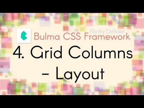 Bulma CSS Framework - 4. Grid Columns - Layout