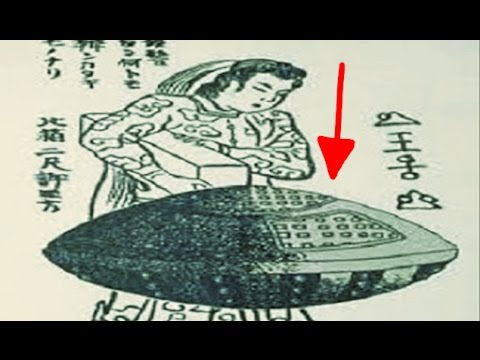 UFO Japanese Mystery! Female ALIEN In A flying Saucer?