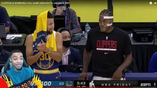 FlightReacts CLIPPERS at WARRIORS | FULL GAME HIGHLIGHTS | January 8, 2021!