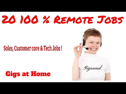 20 Work@Home Jobs Legitimate at Home - Customer Care Gigs