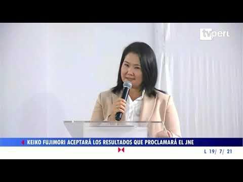 Keiko Fujimori aceptará los resultados que proclamará el JNE