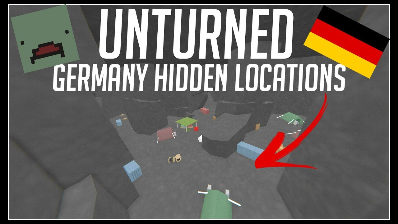Unturned Secret Germany Locations And Unmarked Locations Youtube