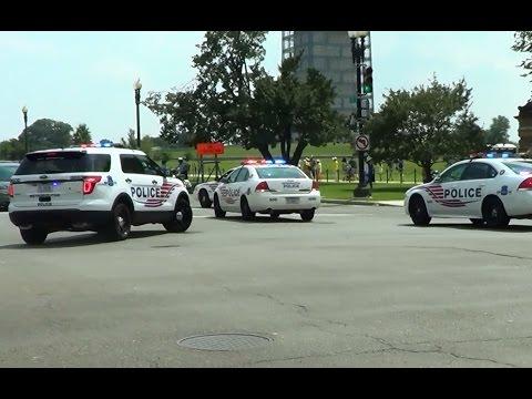 Washington DC Metropolitan PD units escorting a protest [Washington D.C.   7/18/2013]