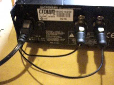crown amp hookup