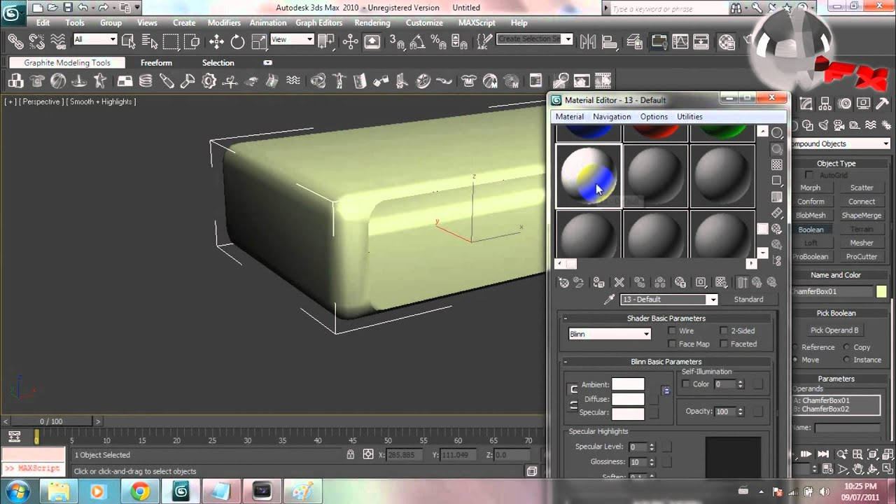 3ds Max Reflective Shiny Material Tutorial Youtube