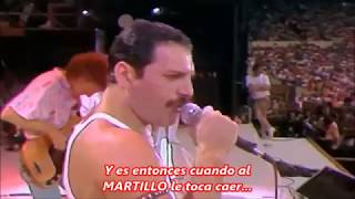 Queen Wembley - Hammer to fall - spanish español subtitles subtitulada