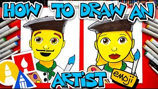 How To Draw An Artist Emoji 👨‍🎨👩‍🎨