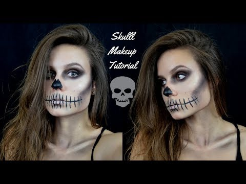 easy skull makeup tutorial  youtube
