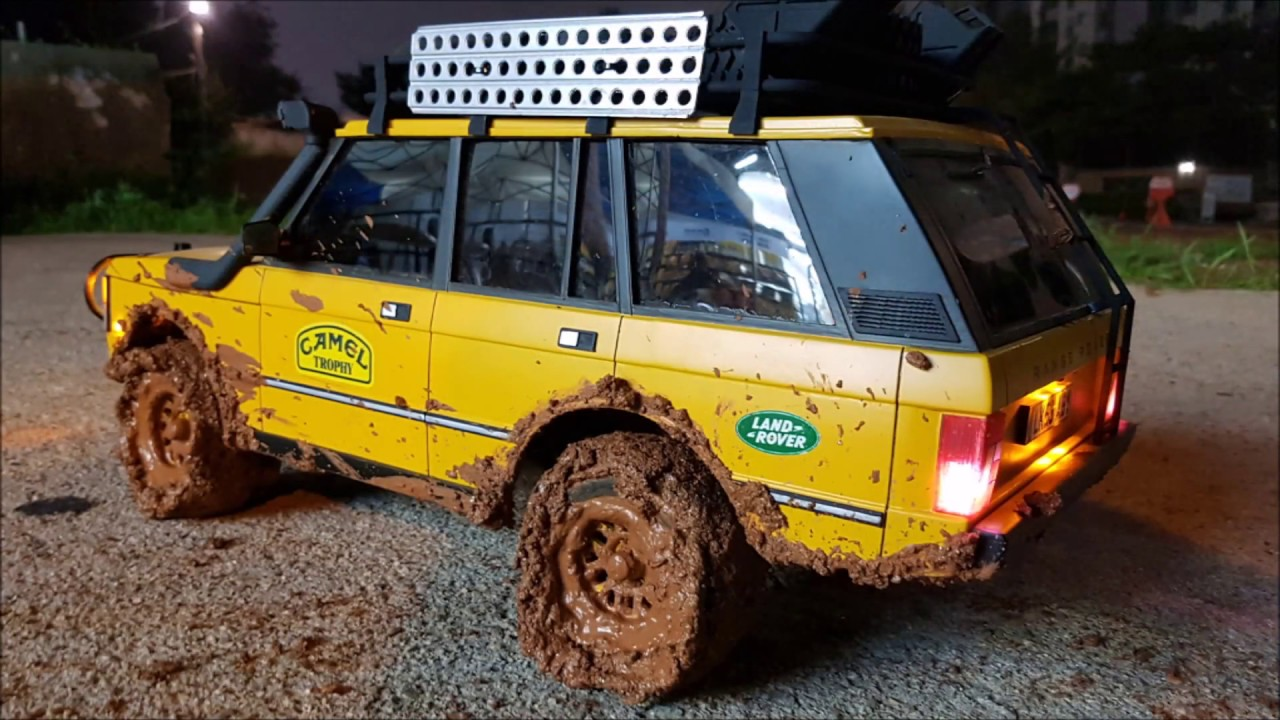 3d Printed Rc Car Body Range Rover Camel Trophy Mudding At Night Youtube