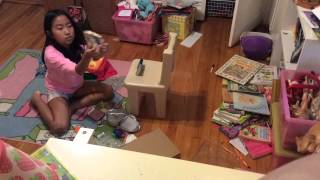 Me Making My American Girl Doll Kitchen Set!!