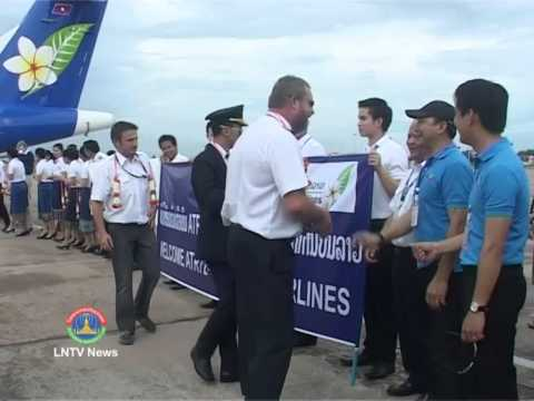 Lao NEWS on LNTV: Lao Airlines is continuing to upgrade its aircraft fleet.12/6/2014
