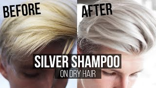 How to use Silver Shampoo on Dry Hair Thomas Davenport Inspired | Men's Hair 2017 Summer |