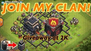 JOIN MY CLAN! + TH9 FARMING TO MAX! + GIVEAWAY AT 2K SUBS | Clash of Clans Livestream