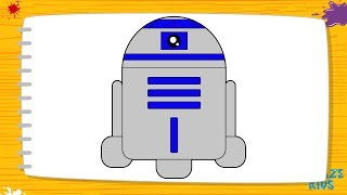 Как нарисовать робота Р2Д2 для детей. Учимся рисовать героев. Уроки рисования для начинающих