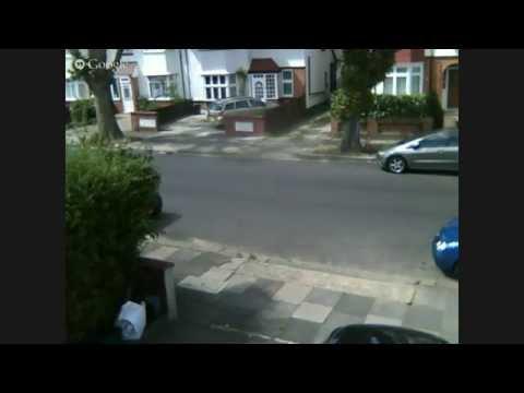 Blue Pug being towed in Swyncombe Avenue Ealing