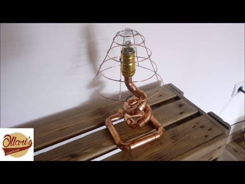 DIY// Copper Pipe Lamp & Wire Lampshade