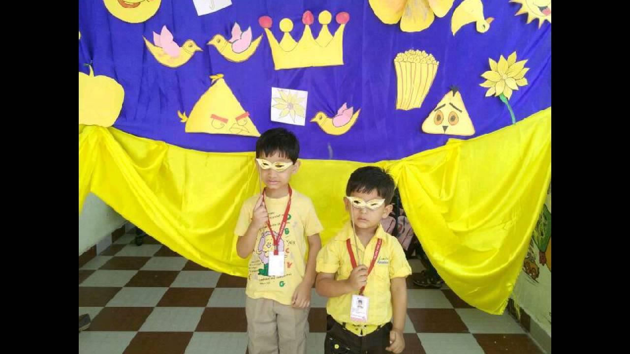 Yellow Day Celebration Calorx Pre School Makarba