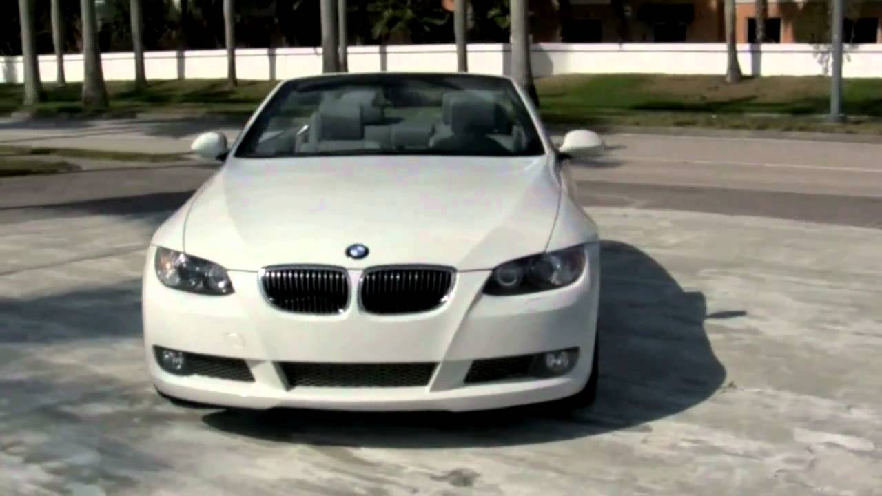 2008 Bmw 335i Convertible Alpine White A2653 Youtube