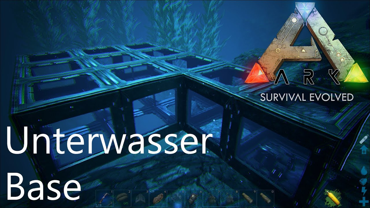 1080p Deutsch Unterwasserbase Bauen Ark Survival Evolved Youtube