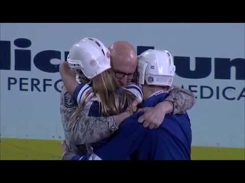 NHL Lightning help Air Force airman with surprise family reunion