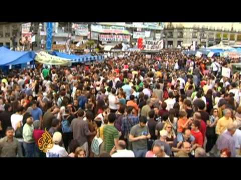 Spainish protesters challenge status quo
