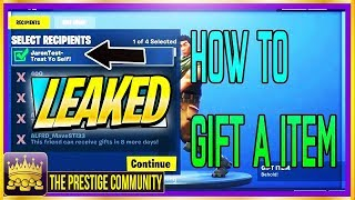 😱*LEAKED* FORTNITE GIFTING SYSTEM GAMEPLAY ''How To Gift In Fortnite'' (Season 6) (Ps4/Xbox One/PC)
