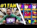 Buying $1000 in Gems to Max my #1 Fan's Brawl Stars Account! | His Reaction was...