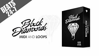Trap piano melody loops + midi kit - blxck diamxnds