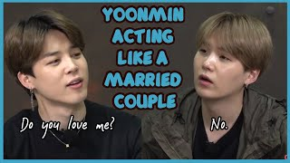 YOONMIN ACTING LIKE A MARRIED COUPLE