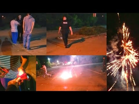 POLICE CAME TO STOP DIWALI FIREWORKS in USA 🎆👮 Indian Vlogger