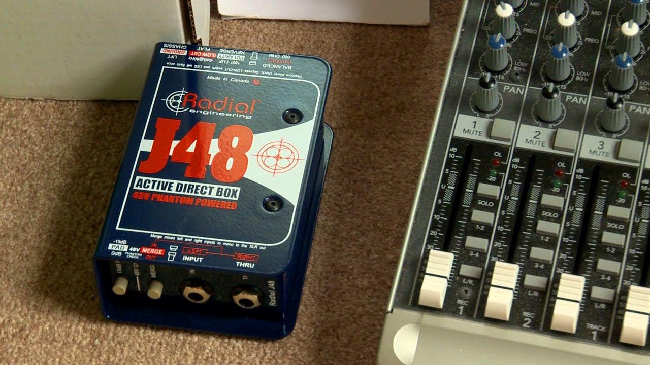 radial j48 direct box vs line input bass guitar mackie mixer youtube. Black Bedroom Furniture Sets. Home Design Ideas
