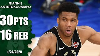 Giannis Antetokounmpo drops 30 points, 16 rebounds for Bucks in Paris | 2019-20 NBA Highlights